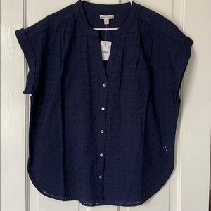 NWT J.Crew Navy Blue Blouse